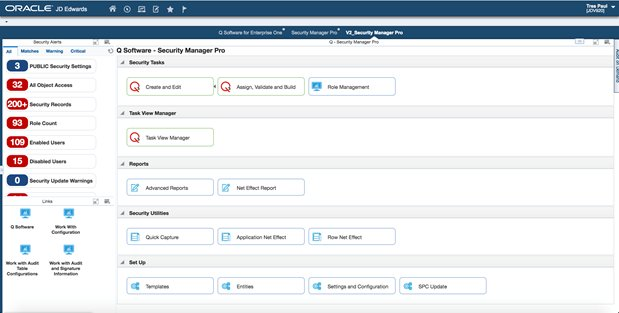 JD Edwards UX One - Security Manager Pro